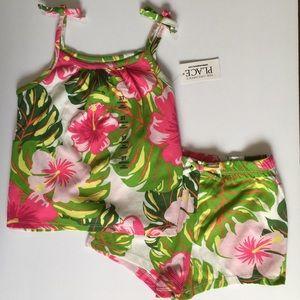 NWT C.Place 3T floral tropical tank shorts set